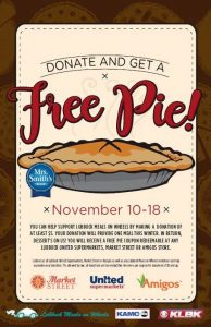 Flyer promoting our Easy as Pie fundraiser.