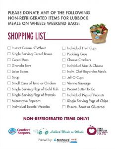 FSN Shopping List